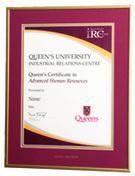 Queen's IRC Advanced HR Certificate