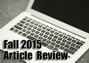 Fall 2015 Article Recap