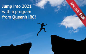 Jump into 2021 with a program from Queen's IRC
