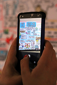 Smartphone capturing visual art at 2015 Workplace in Motion Summit